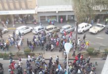 ZANU-PF SUPPORTERS MARCH AGAINST #ThisFlag PASTOR EVAN MAWARIRE - PICTURE